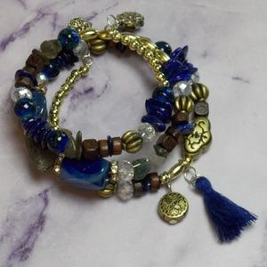 Boho Wrap Bracelet with Stone Eclectic Lightweight